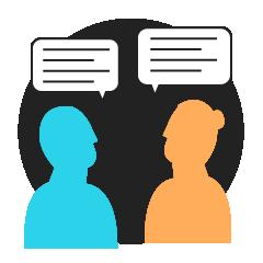 Icon denoting group work